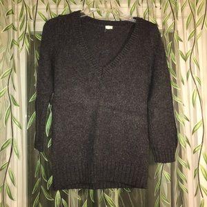 Chunky gray sweater